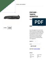 Gerber EVO Mid - Folding - Tanto Serrated Edge Knife _ Gerber Gear