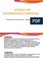 Controls for Differentiated Strategies - Tunisha