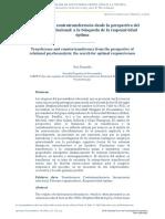 Transferencia y Contratransferencia desde la perspectiva del psicoanálisis relacional