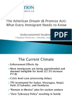 chapmans undocumented student conference the american dream  promise act