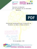 Orientaciones Metodologicas Para Encuentros Con Madres y Padres de Fami...