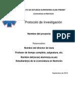 Formato Protocolo Licenciatura Nutricion