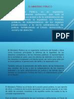 ÓRGANOS DEL  MINISTERIO PUBLICO