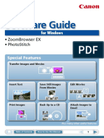 Canon SX210 Software Guide