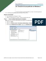 3.- Practica 3 - Creacion de Una Particion en Windows 7