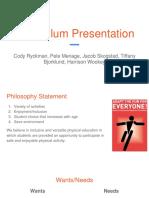 curriculum assignment
