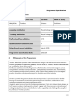 Textiles Programme Specifications 2018 19