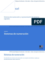 Sistemas de Numeración y Representación de Números Signados