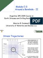 Stress around borehole