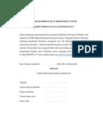 Lembar Persetujuan Responden Untuk