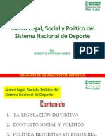 Marco Legal, Social y Politico Del Snd