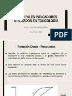 Principales Indicadores Utilizados en Toxicología