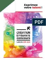 Concours de création étudiante 2019-2020