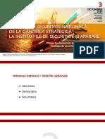"""Concluzii ale Conferinței """"Politica de securitate națională, de la gândirea strategică la instituțiile de apărare"""""""