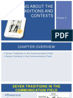 Chapter 2 Thinking About the Field Traditions and Contexts Edited