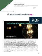 Whatsappgrouplink.org-Technology Whatsapp Group Links