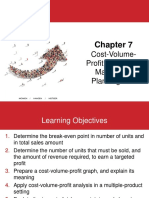 Chapter 7 Cost-Volume-Profit Analysis