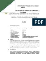 SILABO DE METODOLOGIA