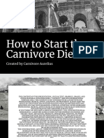 Mastering the Carnivore Diet