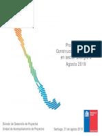 Proyectos en Construcción e Inversión en sector Energía a Agosto 2019