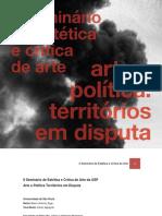 Caderno de Resumos - II Seminário de Estética e Crítica de Arte