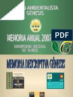 2.- Memoria de Genesis 2007
