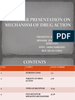 A Seminar Presentation on Mechanism of Drug Action