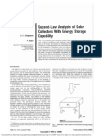 1985 - 2 Law Analysis of Solar Collectors With Energy Storage Capability