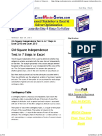 Chi-Square Independence Test in in 7 Steps in Excel 2010 and Excel 2013