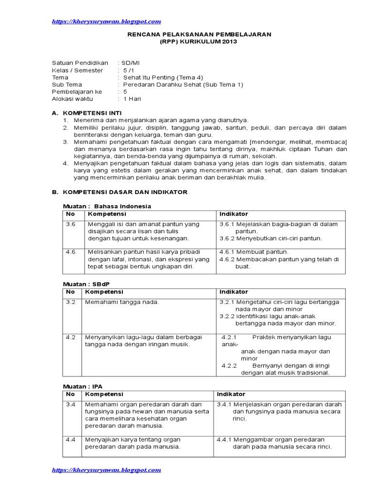 Rencana Pelaksanaan Pembelajaran Rpp Kurikulum 2013