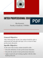 S-Inter Professional Education