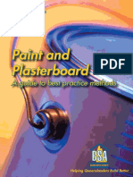 Standards and Guide Paint and Plasterboard a Guide to Best Practice Methods