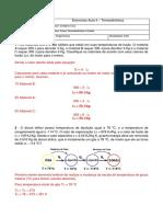 Lista de Exercicios Aula 4 Fisica Termodinamica e Ondas