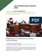 Magistratura Constitucional El Que Vale