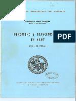 Alejandro Llano-Fenomeno y Trascendencia en Kant.pdf