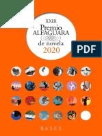 Bases Premio AlfaGuara 2020