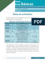Notas Aritmeticas