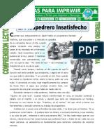 Ficha El Picapedrero Insatisfecho Para Tercero de Primaria (1)