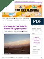 Guia para viajar a San Pedro de Atacama