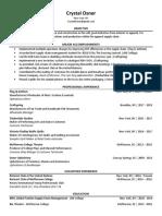 cosner - functional resume - website