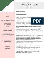 Currículo - Bruna Da Silva Leite
