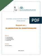 Elaboration Questionnaire