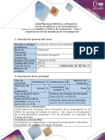 Guía de Actividades y Rúbrica de Evaluación - Fase 1 - Exploración de Las Temáticas de Investigación