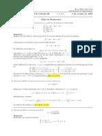 Corrección primer parcial de Cálculo III,  jueves 3 de octubre de 2019
