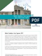 Boletín Ingresos y Términos Corte Suprema - I Semestre 2019