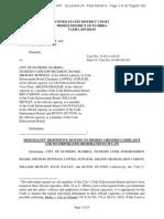 Ficken v Dunedin, 8-19-cv-1210 (30 Sep 2019) Doc 24, MOTION TO DISMISS AMENDED COMPLAINT
