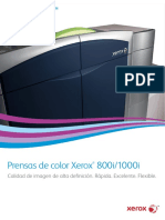 Catálogo de Xerox Press 800i/ 1000/
