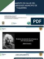 Aseguramiento en Salud Tuquerres Nariño 2019
