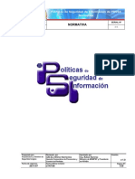 NORMATIVA. Políticas de Seguridad de Información de PDVSA Normativa 20-09-06 USO GENERAL. v-1.0 S_S - PDF