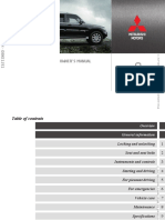 Owners Manual Pajero IV 2011